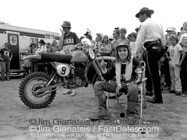 Marty Smith after just winning the 1979 500cc National title in St. Petersburg, Florida.