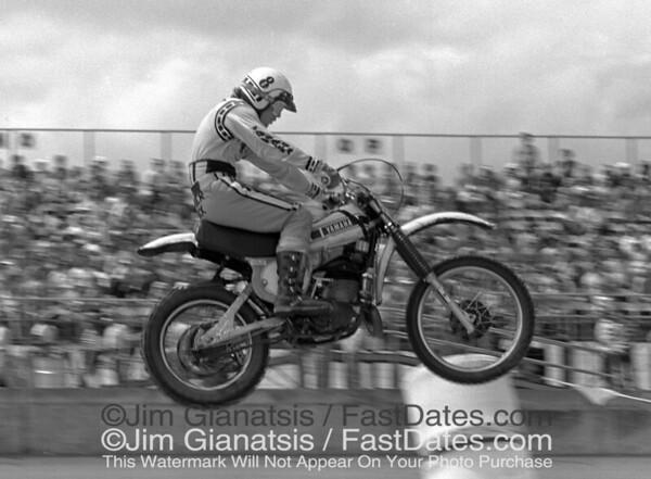 Rick Burgett, Yamaha OW250, Daytona 1977 Supercross.