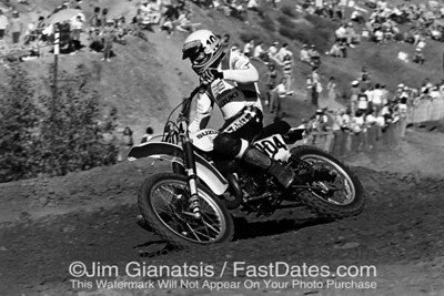 Roger DeCoster at the 1976 Saddleback Trans-AM race.