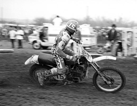 Husqvarna USA factory rider Kent Howerton, AMA 250c National Champion, shown here at the 1975 Saint Louis USA Trans-AMA race on a Husqvarna CR360