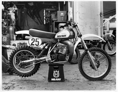 1981 Husqvarna factory race bike CR250.