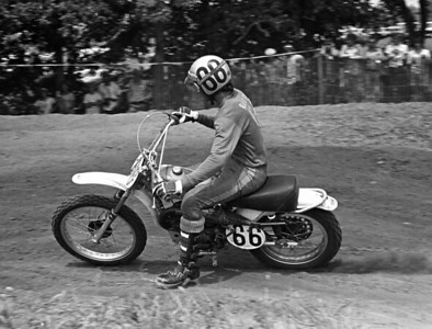 Husqvarna USA factory rider Bob Grossi at the Stait Louis 125cc World Motocross Championhsip race in 1973. Bob asl raced in the 250cc and 500occ Classes in America
