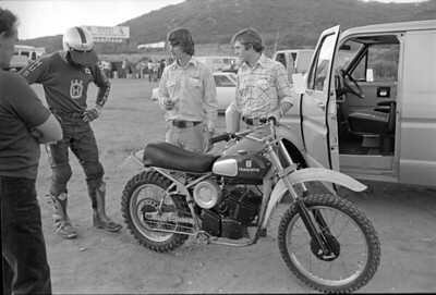 Husqvarna CR250 C&J monoshock prototype 1974 with Rolf Tiblin.