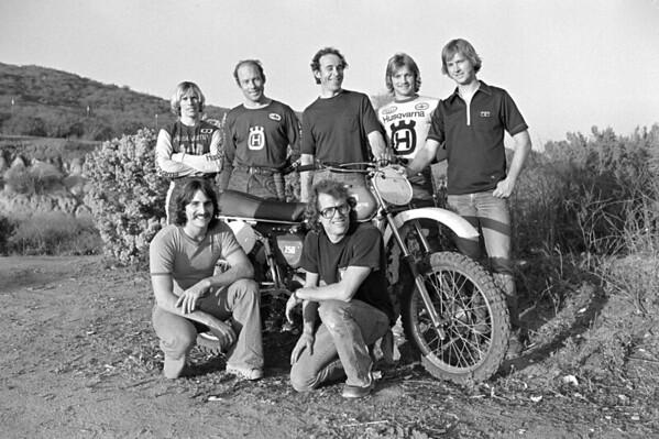 Top Husqvarna factory riders 1974 by Jim Gianatsis