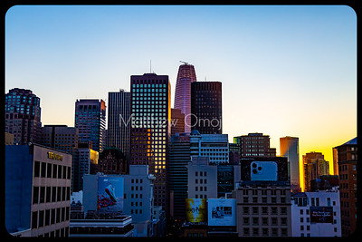 Daybreak golden hour San Francisco California skyline. Salesforce tower tallest building. Editorial photo.