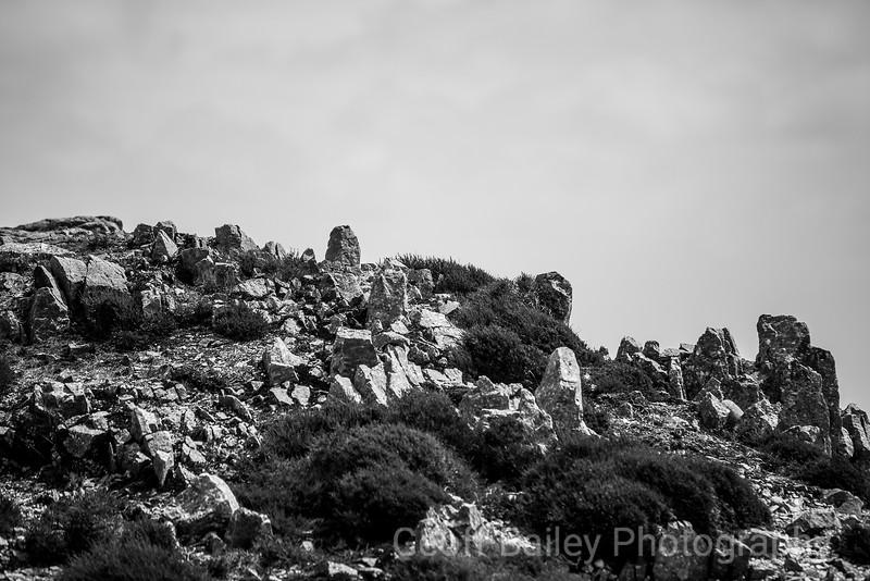 Rocks on the Bryn