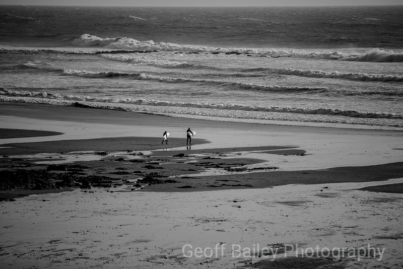 Two Surfers - Langland Bay