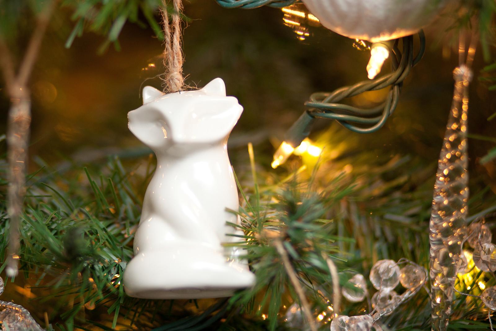 Target Threshold Fox Salt Shaker as Ornament