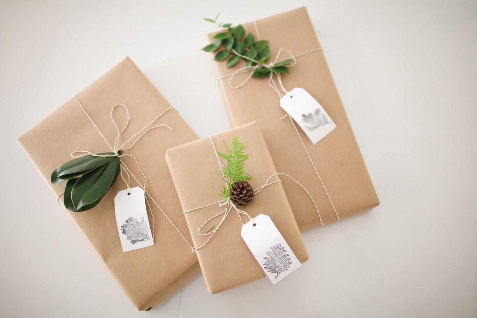 Kraft Paper with Natural Outdoor Decorations