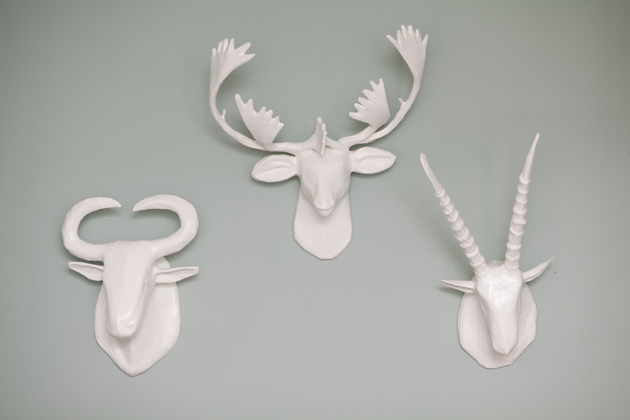 West Elm Papier-Mache Animal Heads