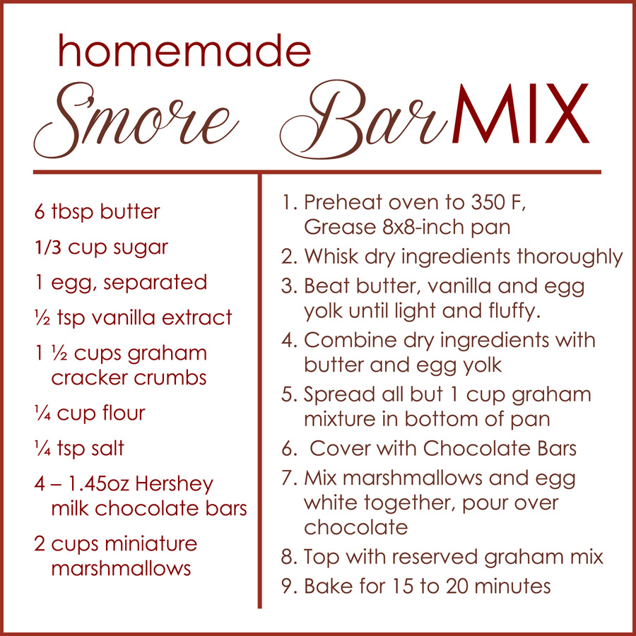 S'more Bar MIx Kit Ingredients