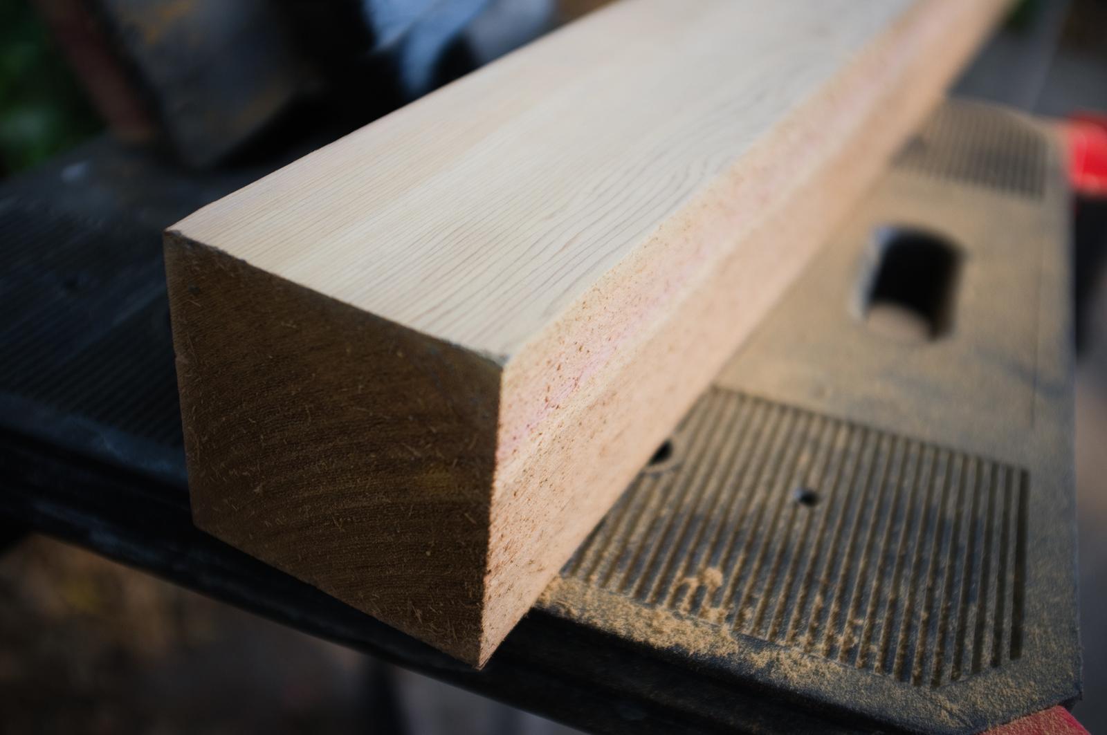 4x4-inch cedar post