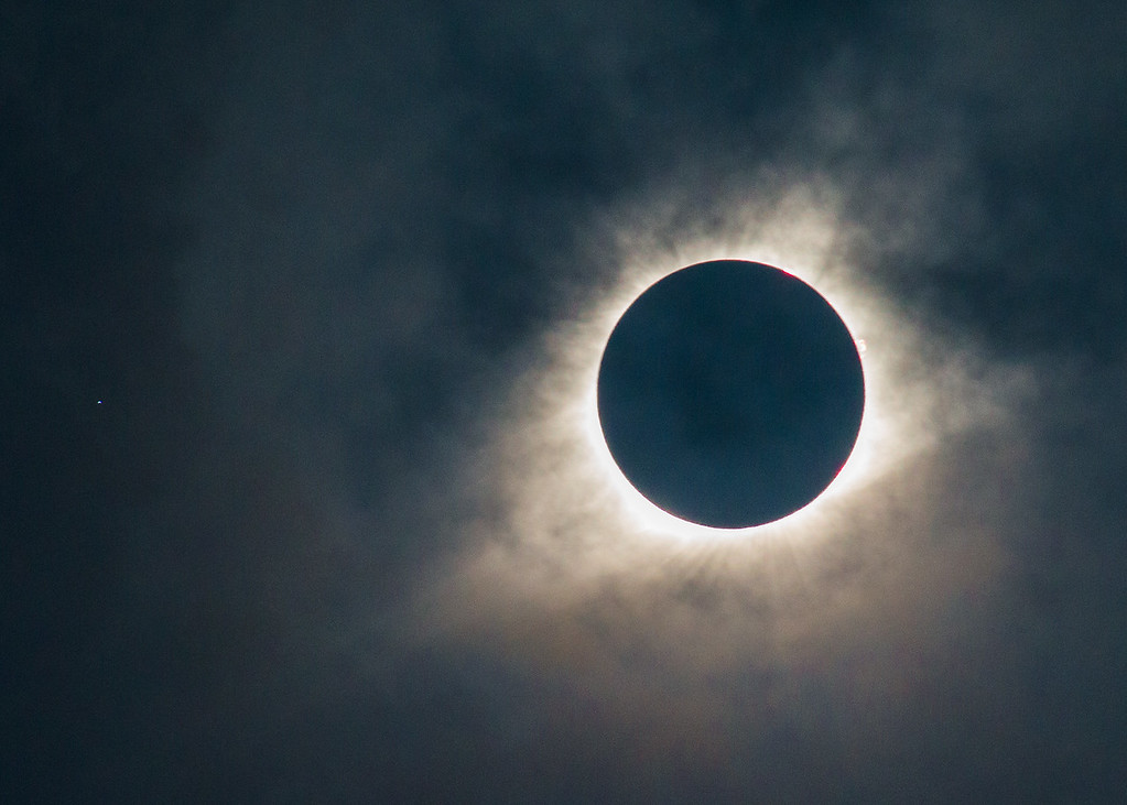 Total Solar Eclipse 2017<br /> Great American Eclipse<br /> Great Smoky Mountains Total Eclipse of the Park<br /> Solar Eclipse Diamond Ring With Clouds