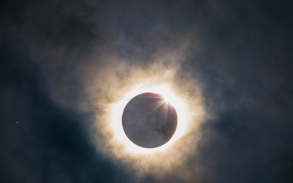 Total Solar Eclipse 2017 Diamond Ring Effect