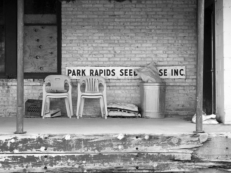Park Rapids, Minnesota. Abandoned Feed Mill.