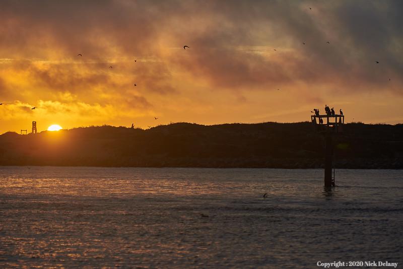 Sunset at Moss Landing