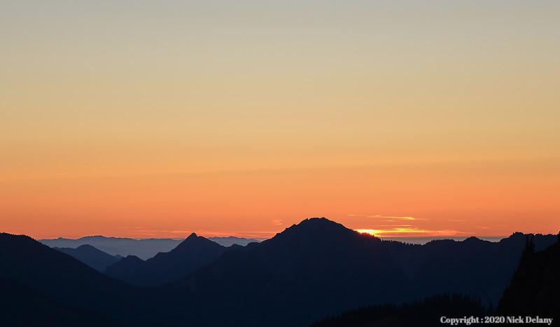 Sunset at Hurricane Ridge