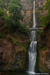 Ribbons of Multonomah Falls