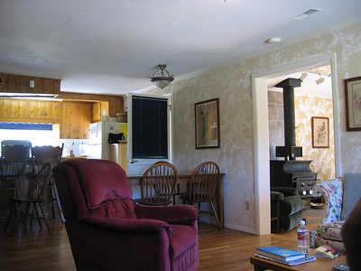 Living Room with Den and Dining table in background
