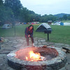 Thursday night at the Tyler Bend Group Campsite