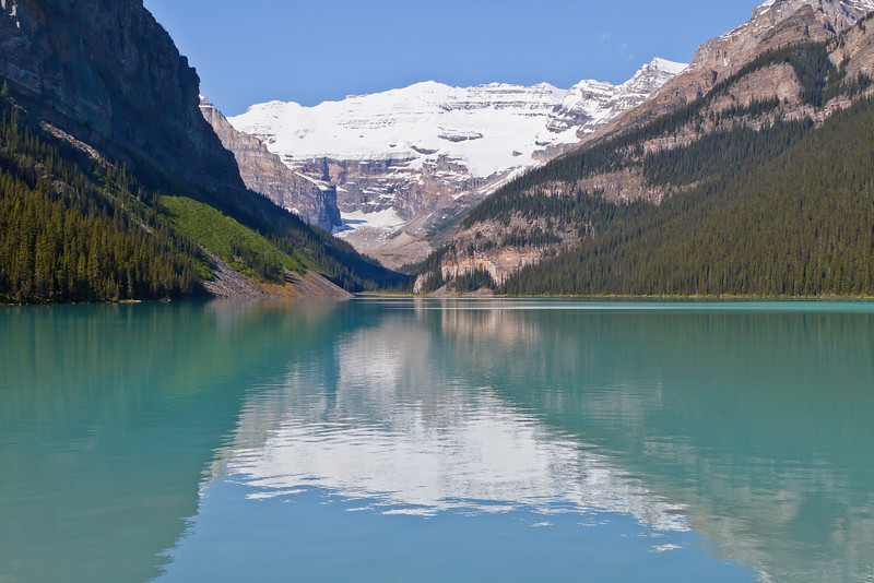 Lakes of turquoise, azure and emerald colors.
