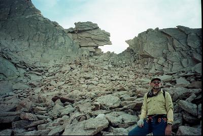longs peak climb, key hole