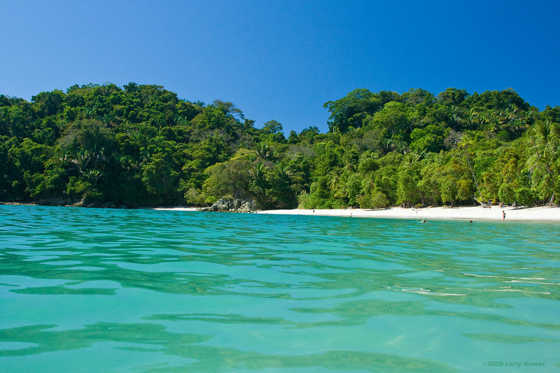 A fisheye view of the beach at Manuel Antonio National Park