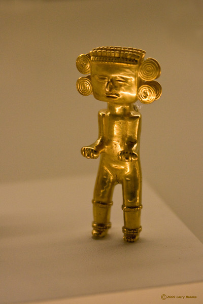Figurine at the Gold Museum in San Jose