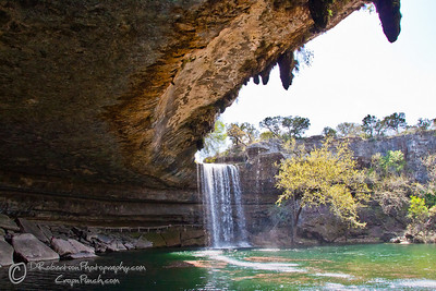 Where's Waldo?  Hamilton Pool near Austin. Look for the person standing behind a rock.