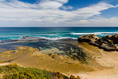 Tidal pools near London Bridge on the Mornington Peninsula