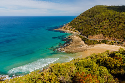 The Great Ocean Road, as seen from Teddy's Lookout
