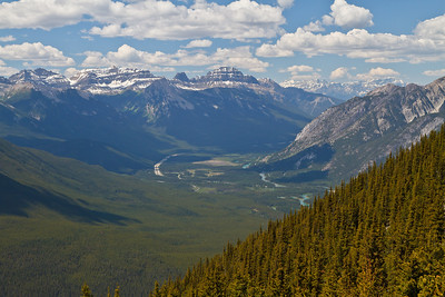 Bow River Valley as seen from the Beehives Trail