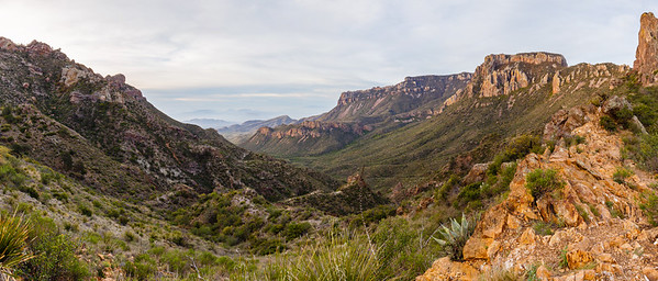 View from the Lost Mine Trail in the Chisos Basin