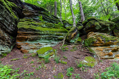 Interesting rock formations along the Ledges Trail