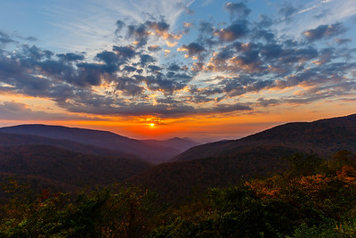 Sunrise at the Ivy Creek Overlook