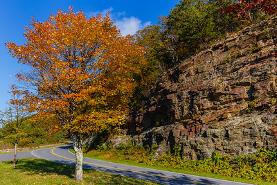 Autumn colors at the Rockytop Overlook