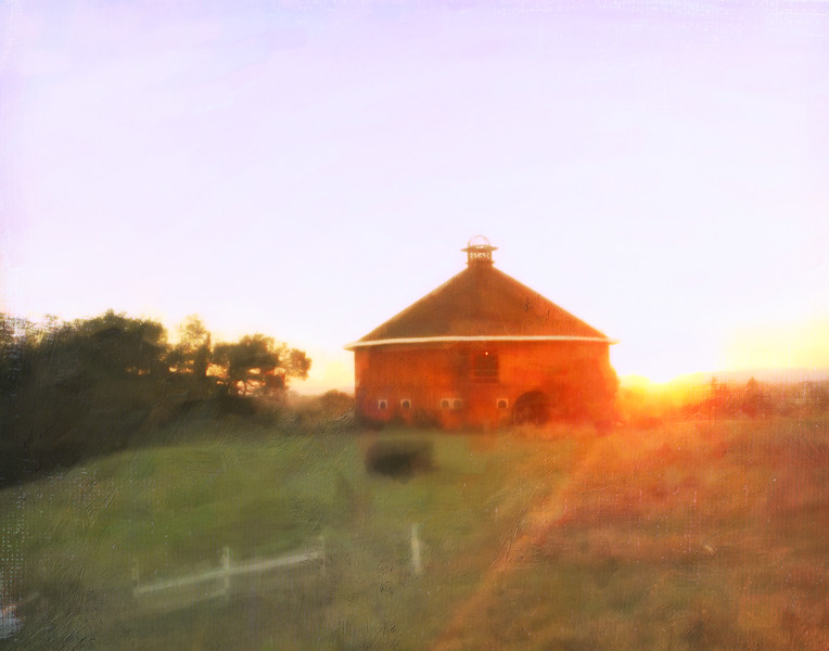 Red Barn at Sunset, Santa Rosa, CA  2016