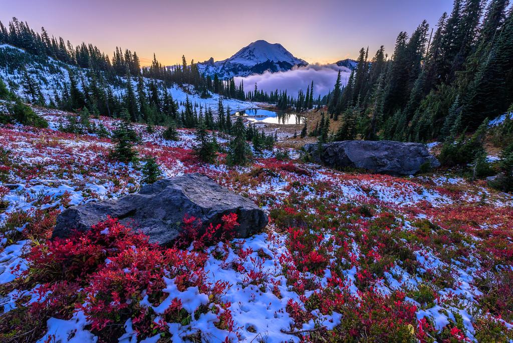 Winter's Approach (Landscape)