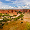 A view from the south rim of  Canyon De Chelly National Monument
