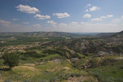 Badlands overlook at Theodore Roosevelt National Park (North Unit)