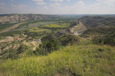 Little Missouri River overlook at Theodore Roosevelt National Park (North Unit)