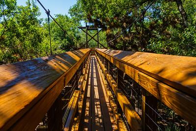 The canopy walk at Myakka River State Park