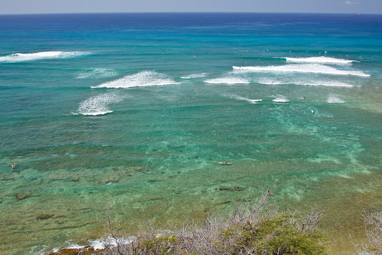 Surfing at Diamond Head Beach