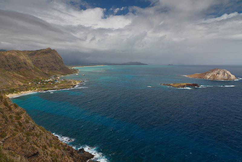 The view from Makapuu Point (Oahu)