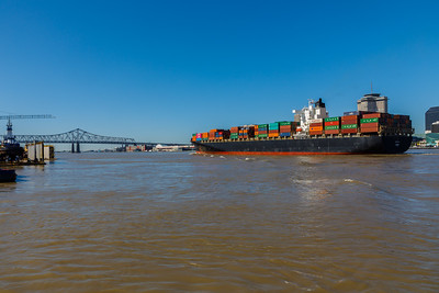 The Mighty Mississippi River as seen from Algiers Point in New Orleans