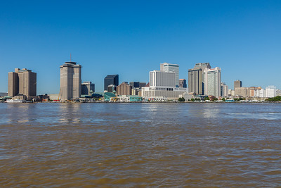 The Mississippi River and the New Orleans Skyline as seen from Algiers Point