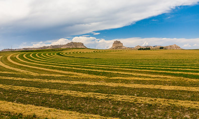 Farmland and Scottsbluff National Monument