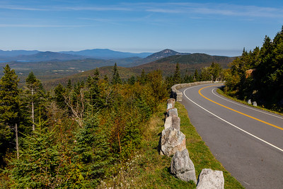 Veterans Memorial Highway climbs nearly to the top of Whiteface Mountain
