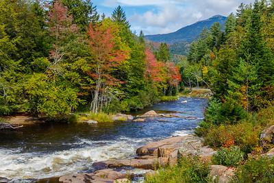 Lake Placid autumn scenery