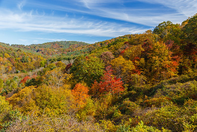 Autumn colors along the Blue Ridge Parkway
